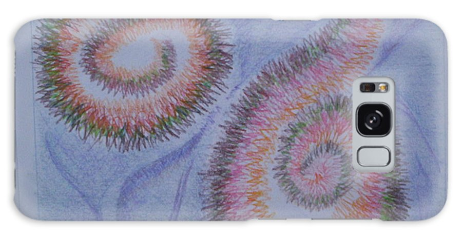 Abstract Galaxy S8 Case featuring the drawing Teach Me by Suzanne Udell Levinger