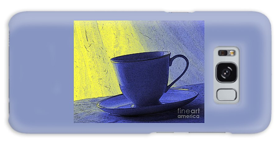 Blue Galaxy Case featuring the digital art Teacup by Jacqueline Milner