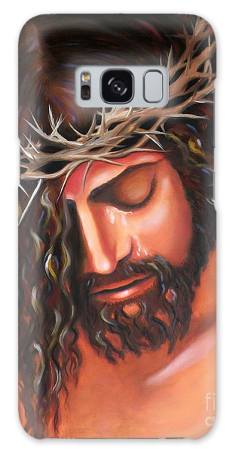 Crown Of Thorns Galaxy S8 Case featuring the painting Tears From The Crown Of Thorns by Lora Duguay