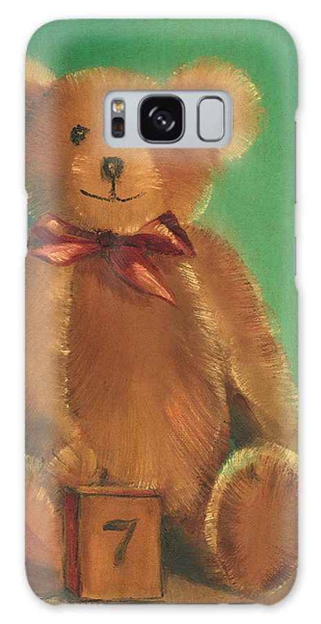 Teddy Bear Galaxy Case featuring the painting Ted E. Bear by Arline Wagner