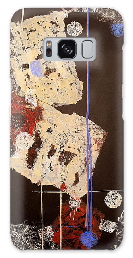 Abstract Galaxy S8 Case featuring the painting Teeter by Ruth Palmer