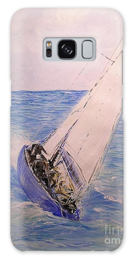 Seascape Galaxy S8 Case featuring the painting Tell Tails In The Wind by Lizzy Forrester