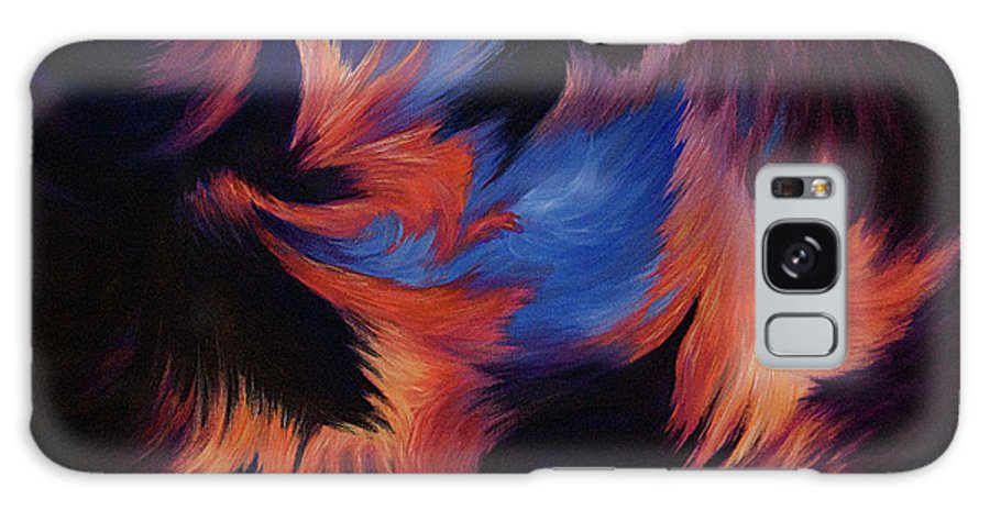 Abstract Galaxy Case featuring the painting Tempest by Rachel Christine Nowicki