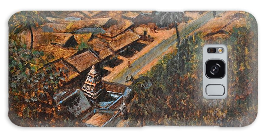 Temple Galaxy S8 Case featuring the painting Temple Town by Usha Shantharam