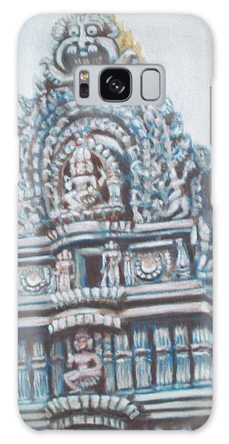 Temple Galaxy S8 Case featuring the painting Temple by Usha Shantharam