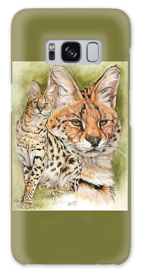 Serval Galaxy S8 Case featuring the mixed media Tempo by Barbara Keith