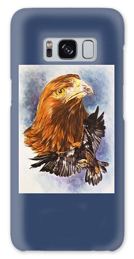 Eagle Galaxy S8 Case featuring the mixed media Tenacity by Barbara Keith
