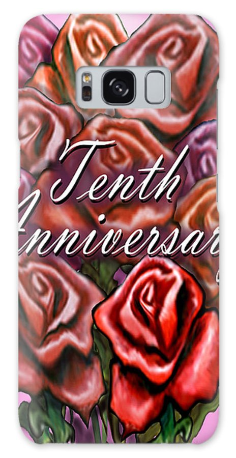 Tenth Galaxy S8 Case featuring the greeting card Tenth Anniversary by Kevin Middleton