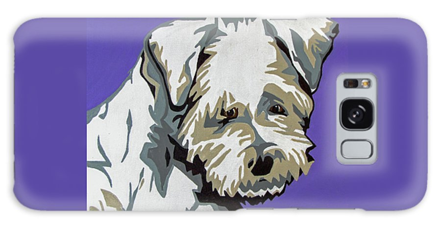 Terrier Galaxy S8 Case featuring the painting Terrier Mix by Slade Roberts