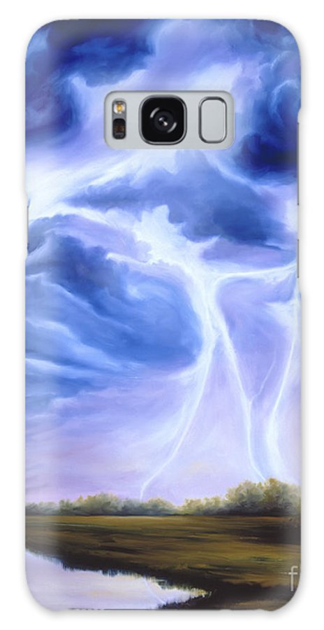 Marsh Galaxy Case featuring the painting Tesla by James Christopher Hill