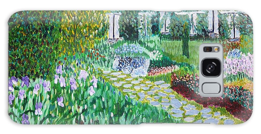 Landscape Galaxy Case featuring the painting Tete D'or Park Lyon France by Valerie Ornstein