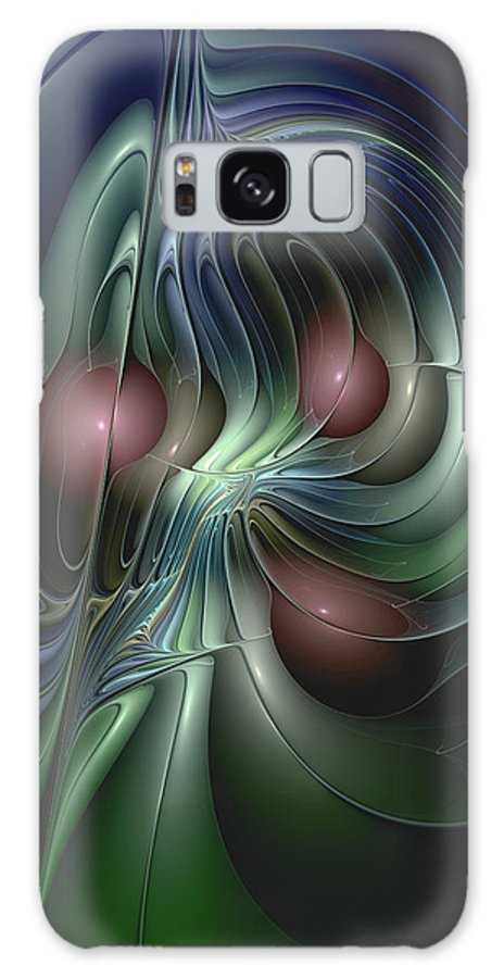 Abstract Galaxy S8 Case featuring the digital art Tethered Sentiments by Casey Kotas