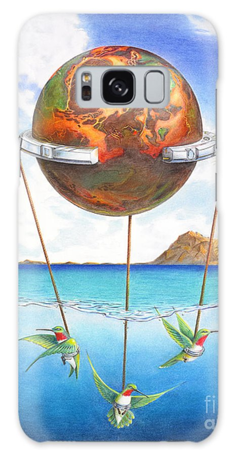 Surreal Galaxy S8 Case featuring the painting Tethered Sphere by Melissa A Benson