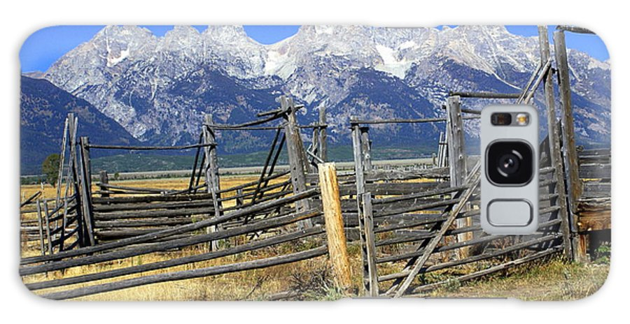 Grand Teton National Park Galaxy S8 Case featuring the photograph Teton Corral 2 by Marty Koch