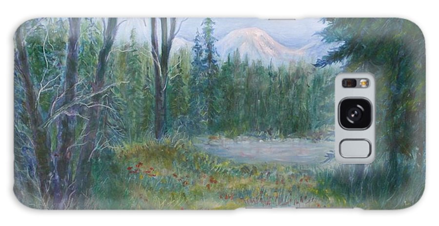 Landscape Galaxy Case featuring the painting Teton Valley by Ben Kiger