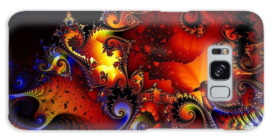 Jackolantern Galaxy S8 Case featuring the digital art Texture Of Jackolantern by Ron Bissett