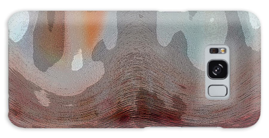 Abstracts Galaxy S8 Case featuring the digital art Textured Waves by Linda Sannuti
