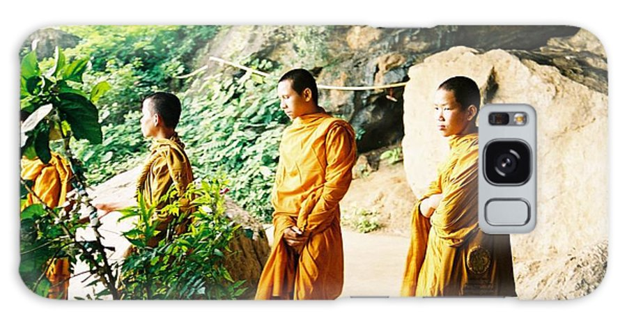 Monks Galaxy S8 Case featuring the photograph Thai Monks by Mary Rogers