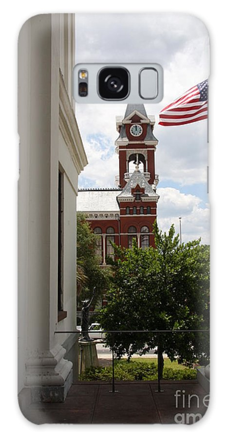 Hall Galaxy S8 Case featuring the photograph Thalian Hall Column by Christiane Schulze Art And Photography