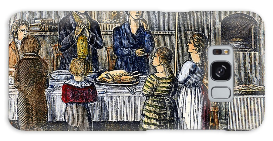 1853 Galaxy S8 Case featuring the photograph Thanksgiving, 1853 by Granger