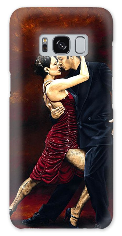 Tango Galaxy S8 Case featuring the painting That Tango Moment by Richard Young