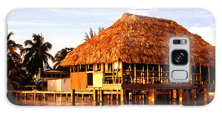 Thatched Roof Galaxy S8 Case featuring the photograph Thatched Roof Placencia by Thomas R Fletcher