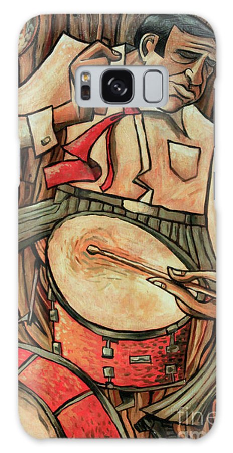 Buddy Rich Galaxy Case featuring the painting That's Rich by Sean Hagan