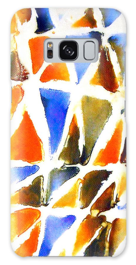 Abstract Colour Galaxy S8 Case featuring the painting Thaw 21 by Jorge Berlato