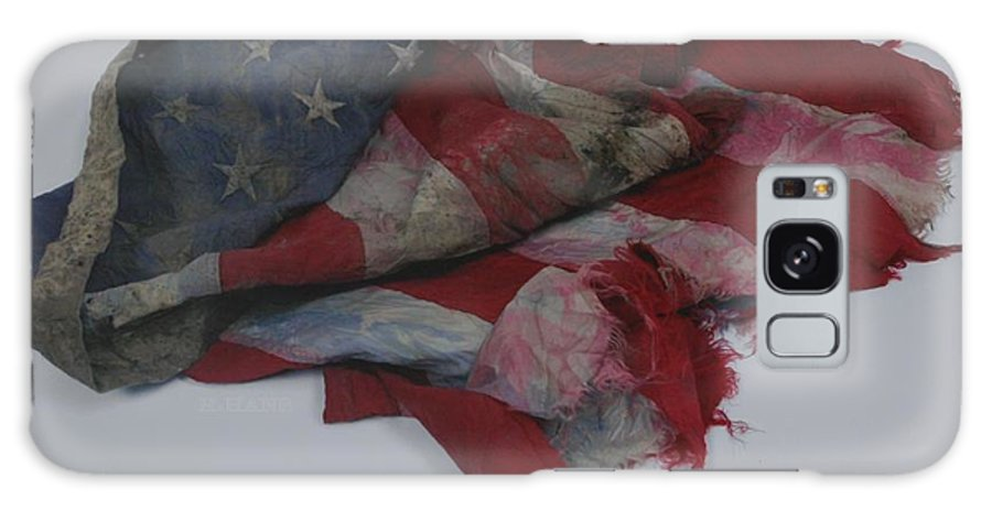 911 Galaxy S8 Case featuring the photograph The 9 11 W T C Fallen Heros American Flag by Rob Hans