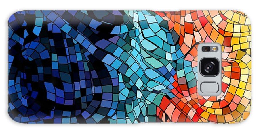 Kiss Colors Digital Abstract Galaxy Case featuring the digital art The Abstract Kiss by Veronica Jackson