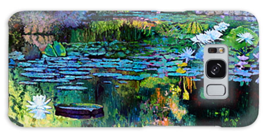 Water Lilies Galaxy Case featuring the painting The Abstraction of Beauty one and two by John Lautermilch