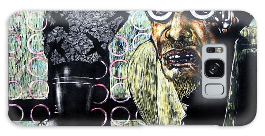 Scratchboard Galaxy Case featuring the mixed media The Alchemist by Chester Elmore
