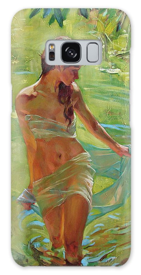 Ignatenko Galaxy Case featuring the painting The allegory of summer by Sergey Ignatenko