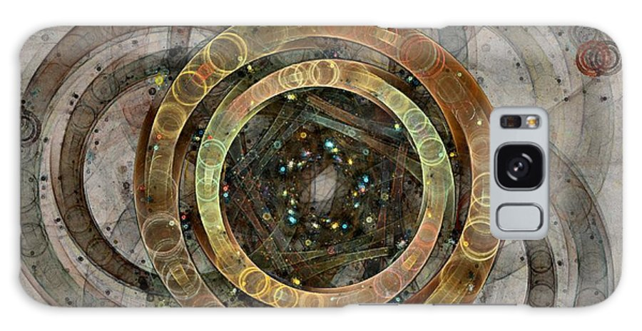 Circles Galaxy Case featuring the digital art The Almagest - Homage To Ptolemy - Fractal Art by NirvanaBlues