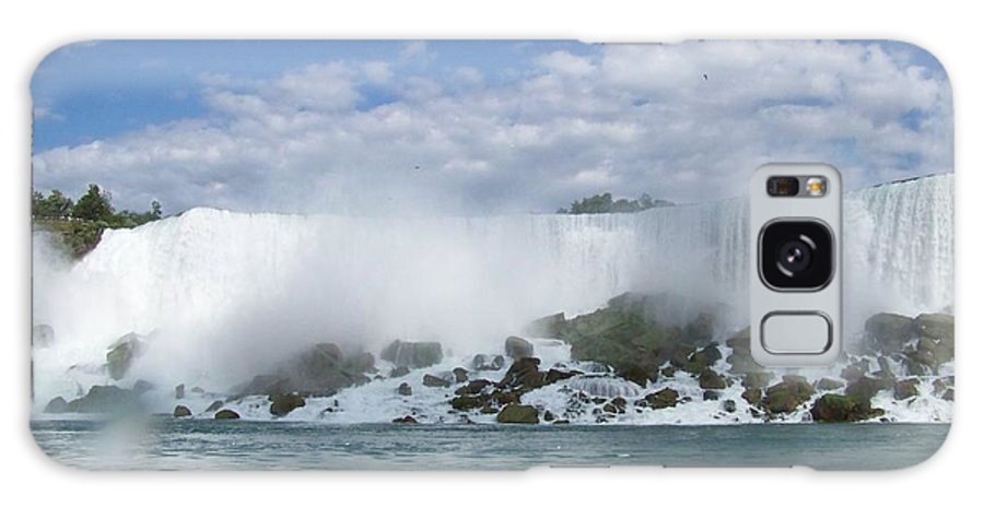 Waterfall Galaxy S8 Case featuring the photograph The American Falls At Niagra by Laurie Paci
