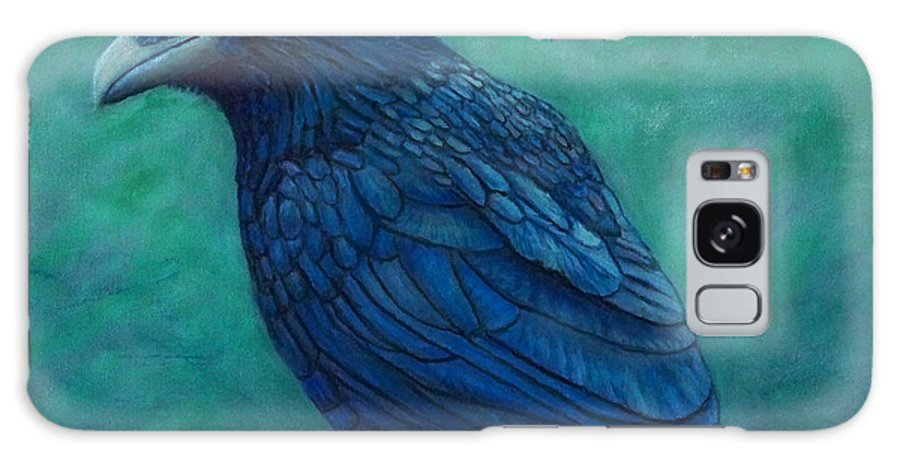 Raven Galaxy S8 Case featuring the painting The Ancient One by Brian Commerford