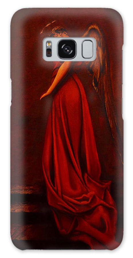 Giorgio Galaxy Case featuring the painting The Angel Of Love by Giorgio Tuscani
