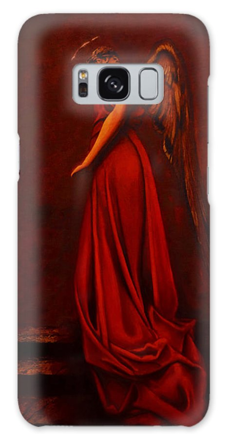 Giorgio Galaxy S8 Case featuring the painting The Angel Of Love by Giorgio Tuscani