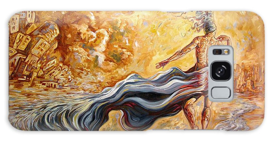 Surrealism Galaxy S8 Case featuring the painting The Arrival Of The Goddess Of Consciousness by Darwin Leon