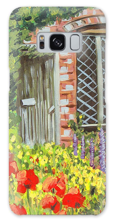Windows Galaxy S8 Case featuring the painting The Artist's Cottage by Laurie Morgan