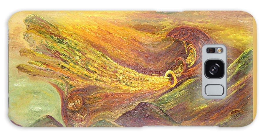 Autumn Galaxy S8 Case featuring the painting The Autumn Music Wind by Karina Ishkhanova