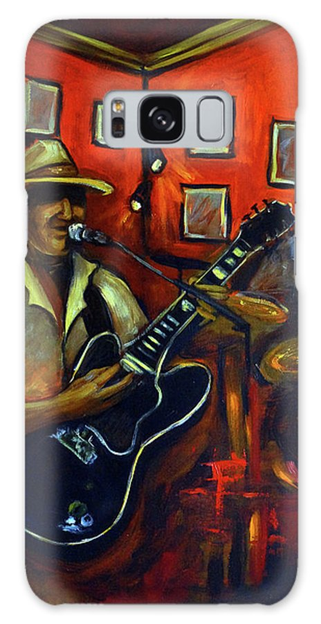 Blues Galaxy S8 Case featuring the painting The Back Room by Valerie Vescovi