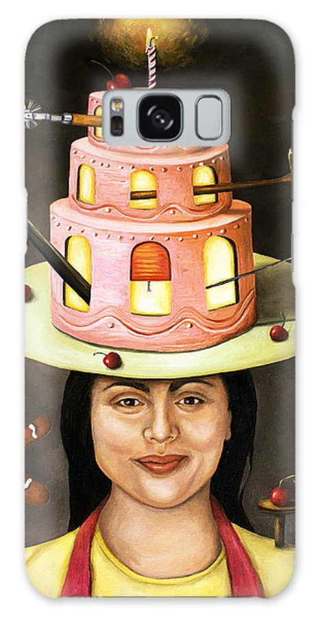 Baker Galaxy S8 Case featuring the painting The Baker by Leah Saulnier The Painting Maniac