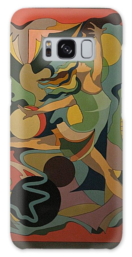 Abstract Galaxy Case featuring the painting The Ballet Dancer by Vasilis Bottas