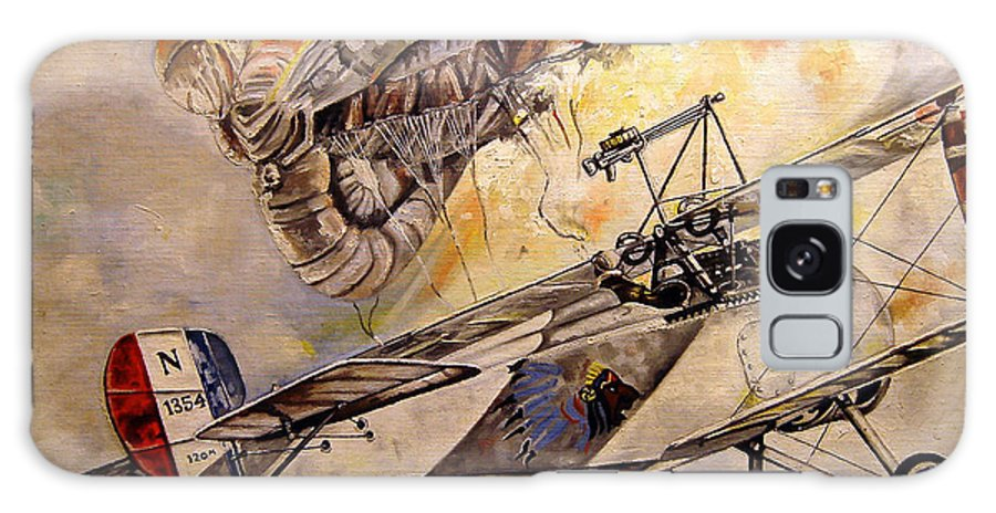 Military Galaxy S8 Case featuring the painting The Balloon Buster by Marc Stewart