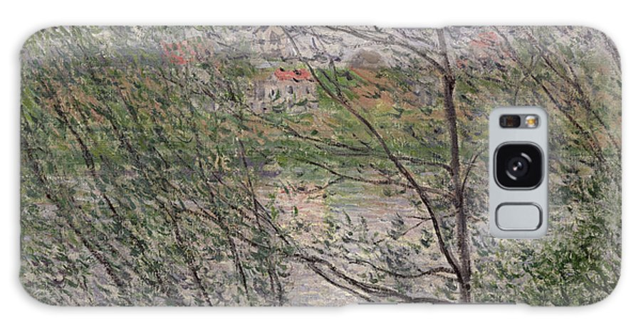 The Galaxy S8 Case featuring the painting The Banks Of The Seine by Claude Monet