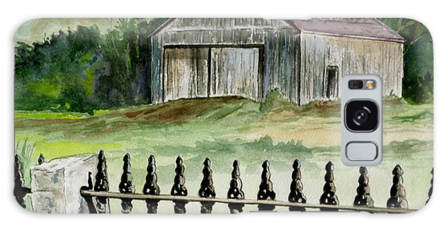Landscape Galaxy S8 Case featuring the painting The Barn At Parsonsfield Maine by Brenda Owen