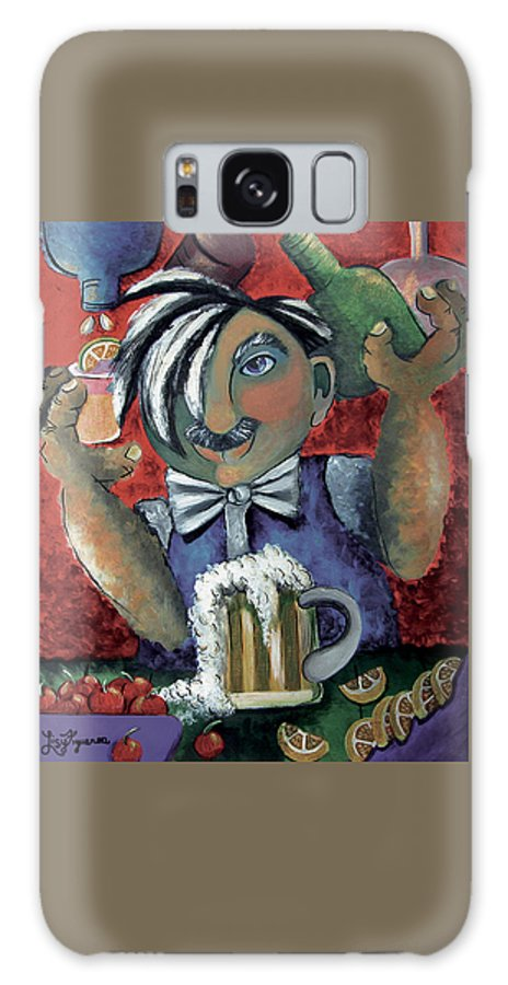 Bartender Galaxy Case featuring the painting The Bartender by Elizabeth Lisy Figueroa