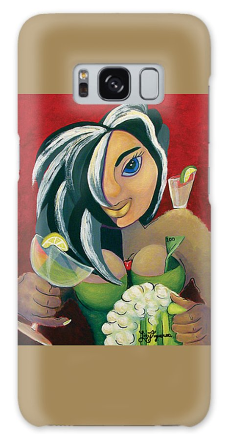 Bar Galaxy S8 Case featuring the painting The Barwaitress by Elizabeth Lisy Figueroa