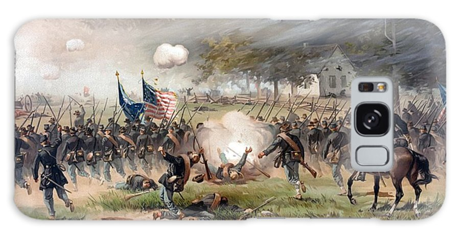 Civil War Galaxy Case featuring the painting The Battle Of Antietam by War Is Hell Store